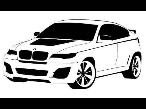 Speed Drawing Bmw X6 Bystroe Risovanie Bmv X6 Videomoviles Com