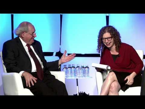 Former Senator Carl Levin and Rabbi Alana Alpert at Pursuing Justice 2016