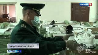 Транзитом через Омск пытались провезти несколько тысяч пар контрафактной обуви