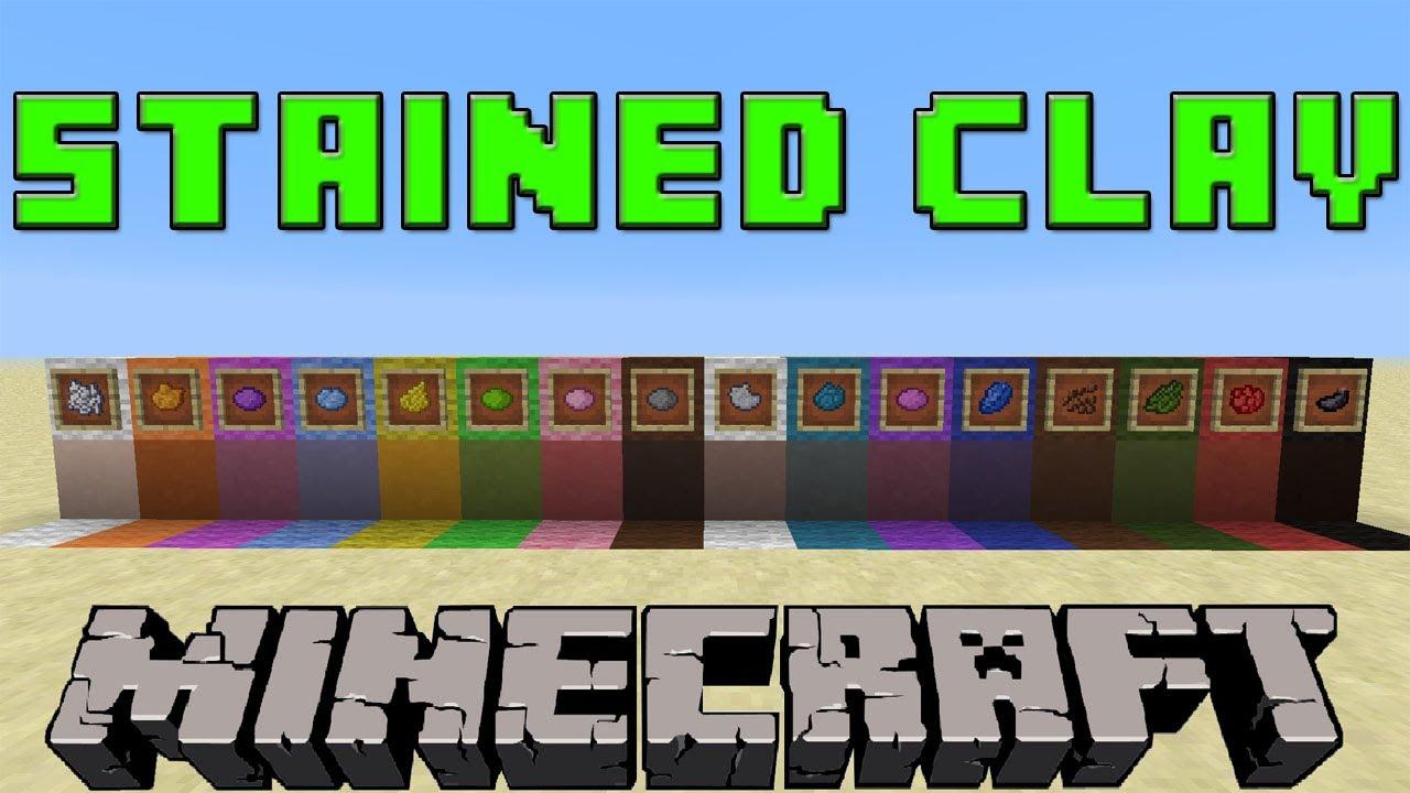 Minecraft dyed clay recipe