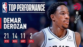 DeMar DeRozan Records FIRST CAREER TRIPLE-DOUBLE Against Toronto | January 3, 2019
