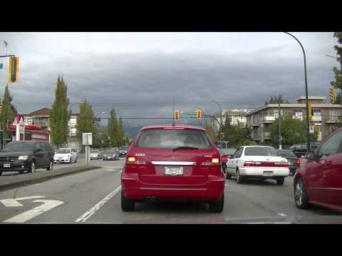 Driving in Vancouver BC Canada - KNIGHT Street - Jazz BGM - City Drive