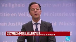 Netherlands shooting: Dutch PM Rutte speaks following attack in Utrecht