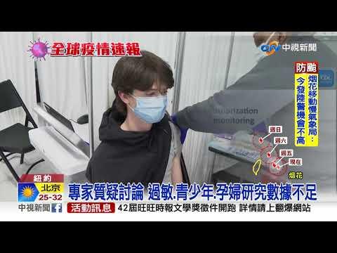 美BNT輝瑞疫苗EUA 9小時審查會全程直播│中視新聞 20210722