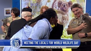 Danielle Brooks, Samira Wiley, Yael Stone & Lea DeLaria Surprised By Aussie Wildlife | Studio 10