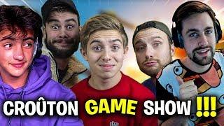 C'EST PARTIT POUR LE PREMIER CROUTON GAME SHOW !!! Ft Michou/Valouzz/Lebouseuh/Inoxtag - YouTube