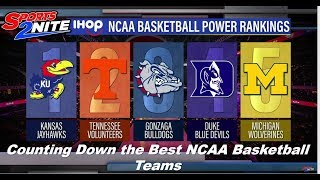 Counting Down the Best NCAA Basketball Teams on the Sports2Nite TV show