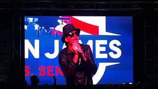 John James rally  Kid Rock performing