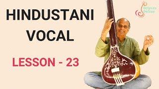 Hindustani Vocal - Lesson 23 - Tarana in Raag Jaunpuri/Jonpuri