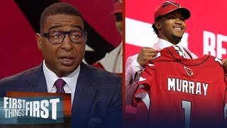 Cardinals select Kyler Murray with first overall pick, Nick & Cris react | NFL | FIRST THINGS FIRST