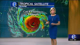 HURRICANE FLORENCE Update Action News 11pm WPVIDT 2018-09-10