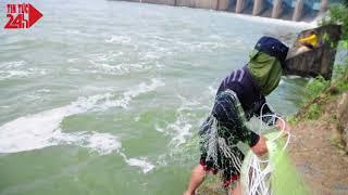 Thủy điện Trị An xã lũ người dân ùn ùn bắt cá
