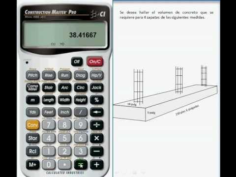 Calcular Cantidad De Concreto Volumen Necesario Para