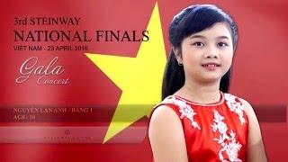 Nguyễn Lan Anh -Giải Nhất  bảng 1 Steinway International Youth Competition 2016