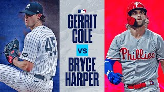 Yankees Gerrit Cole vs. Phillies Bryce Harper: These two superstars battle it out in The Bronx!