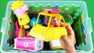 Learn characters, vehicles with Ben & Holly, Monster Trucks, Peppa Pig & other toys in box for kids