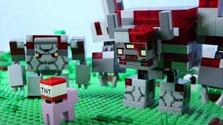 LEGO Minecraft Castle Golem Attack STOP MOTION LEGO Minecraft Castle Build | LEGO | Billy Bricks