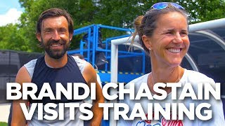 Brandi Chastain Visits Training | INSIDE TRAINING