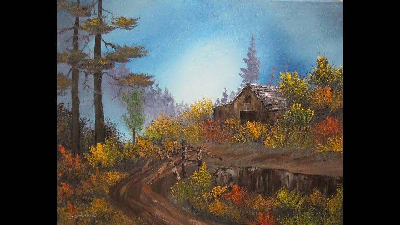 Autumm Barn Wet On Wet Painting Tutorial Youtube