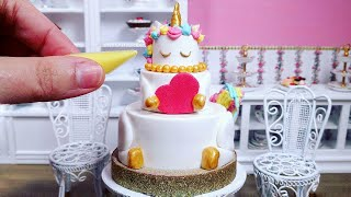Miniature Edible Unicorn Cake for Valentine's Day - Mini Food ASMR