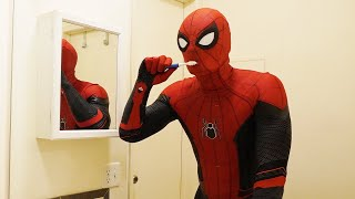 Spiderman's Morning Routine In Real Life (Part 2)