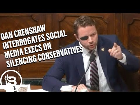Dan Crenshaw Interrogates Social Media Execs on Silencing Conservatives