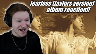 Taylor Swift - Fearless (Taylor's Version) Album REACTION!! (first time hearing!!)