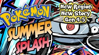 Pokemon Summer Splash - GBA Game With Gen 4-5,New Region+Story!