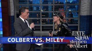 Stephen Vs. Miley Cyrus: Who Is The Bigger Elton John Fan?