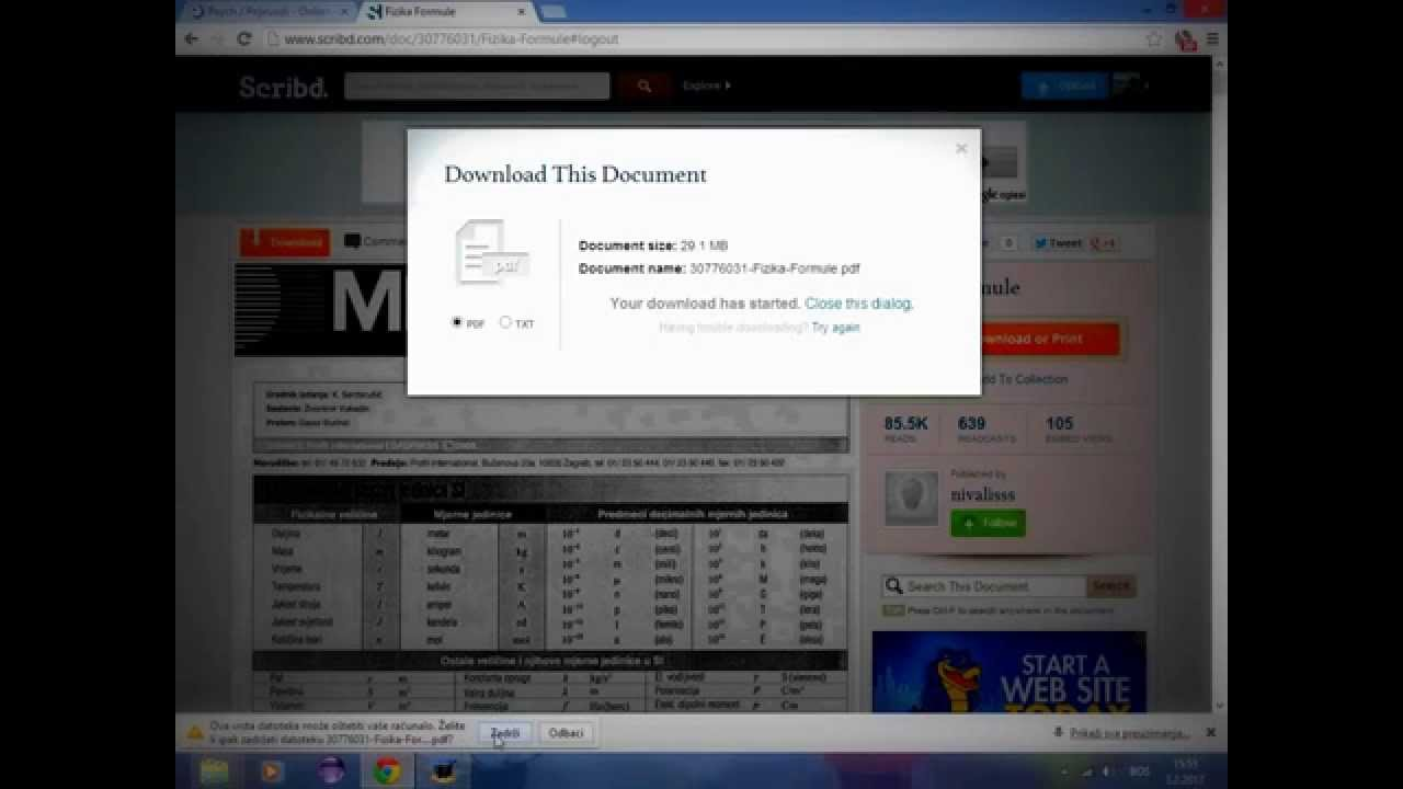 Download from scribd free chrome