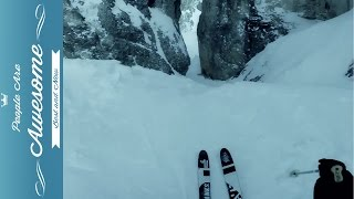 GoPro Extreme Downhill Skiing | 38 People Are Awesome