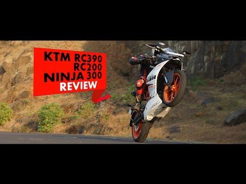 KTM RC390, RC200, Ninja 300 : Review : PowerDrift