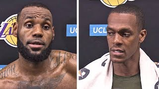 LeBron James & Rajon Rondo On Lakers First Practice, New Players, Being Leaders, & More