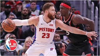 Blake Griffin and Andre Drummond lead Pistons to 110-107 win vs. Raptors   NBA Highlights