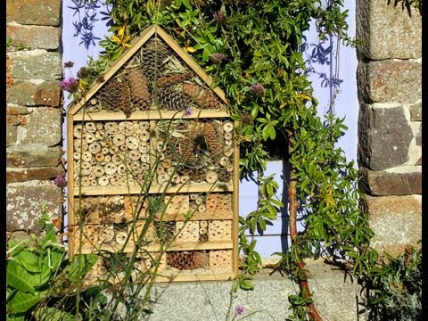 home made deluxe insect hotel from repurposed wood h tel insectes de luxe hotel de insectos. Black Bedroom Furniture Sets. Home Design Ideas