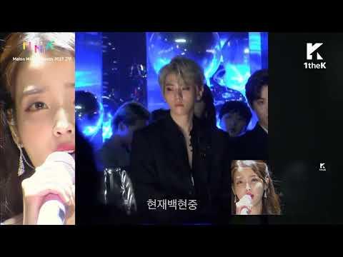 IU EXO moments in MMA2017