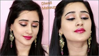 How to do DIWALI MAKEUP (Hindi) | EASY & Step By Step Makeup for Diwali