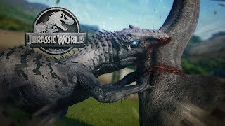 Jurassic World Evolution - THE BIGGEST TAKEDOWN! - Indominus Rex VS Brachi, Biggest Dinos - Gameplay