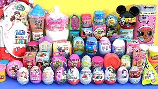 55 SURPRISE EGGS Huge Toys Collection with Mashems Fashems LOL dolls