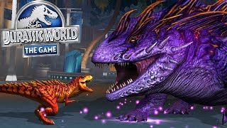 T-REX Vs BOSS SALAMADER 16 || Jurassic World The Game [FHD-1080p]