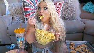 HOMEMADE MAC 'N CHEESE + COOKIES EATING SHOW W/ RECIPE!! (MUKBANG) | WATCH ME EAT