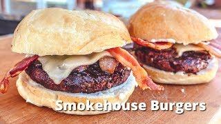 Smokhouse Burgers   Hickory Smoked Hamburgers on Big Green Egg