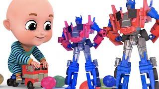 Surprise Eggs | Transformers Robot Truck Toy for Kids | Surprise Egg Videos from jugnu Kids