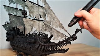 [3d pen] 3D펜으로 플라잉더치맨 만들기 : Making Flying Dutchman in Pirates of the Caribbean