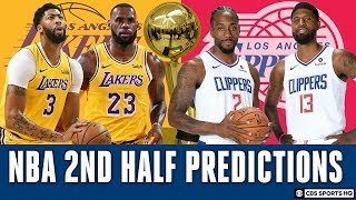 The Lakers or Clippers WILL WIN THE NBA Championship, 2nd Half Predictions | CBS Sports HQ