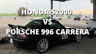 Honda S2000 Club Racer vs Porsche 996 Carrera | Thunderhill East Cyclone