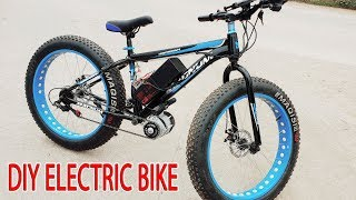DIY Electric Bike 40km/h Using 350W Reducer Brushless Motor
