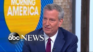 New York City Mayor Bill de Blasio announces 2020 presidential bid
