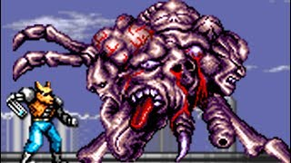 Contra: Hard Corps (Genesis) All Bosses (No Damage)