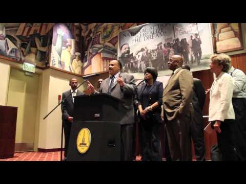 Martin Luther King, III and CWBI Press Conference at Baltimore City Hall